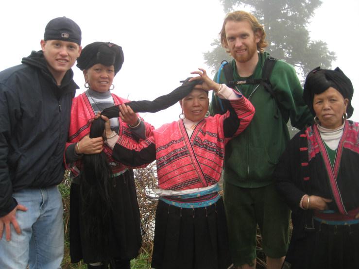Dan and Neil with minority Chinese women
