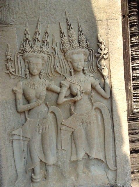 Angkor Wat Carving of Women