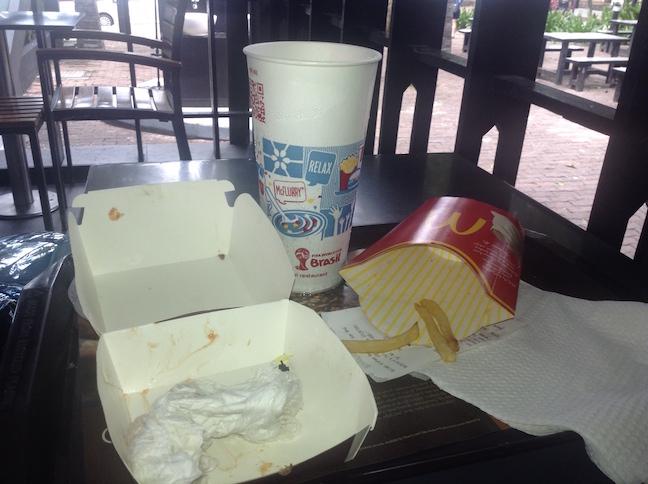 McDonald's Meal in Malaysia