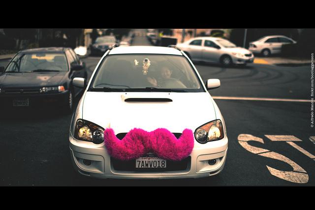 Lyft Car Mustache