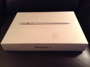 13-inch Macbook Air in box