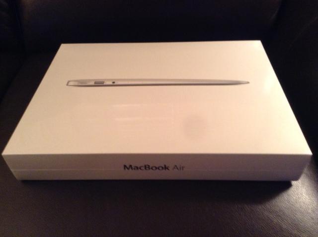 13-inch Macbook Air in box