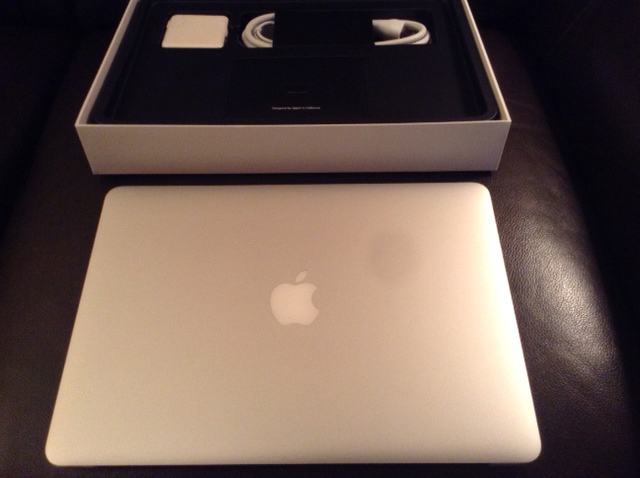 13-inch Macbook Air and charger