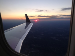 Private Jet Sunset Window